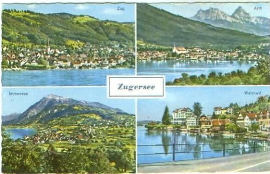 Zug v.1963 4 Ans. -- Zugersee (22338)