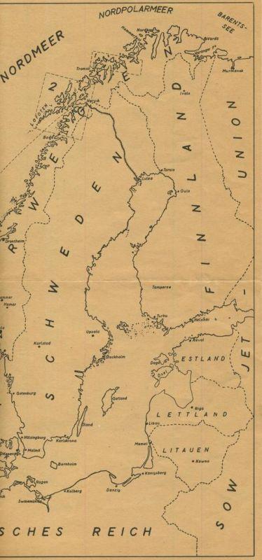 Nordpolarmeer Karte.U Boot Karte Fahrt Nach Norwegen Naryik 54099 165