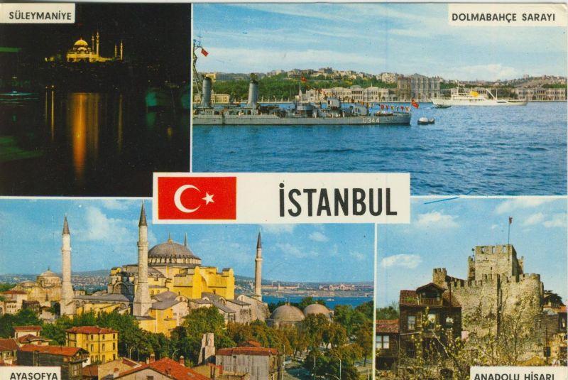 Istanbul v. 1972  4 Stadtansichten  (55209)