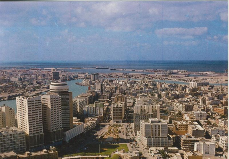 Dubai v. 1978  Teil-Stadt-Ansicht  (55303)
