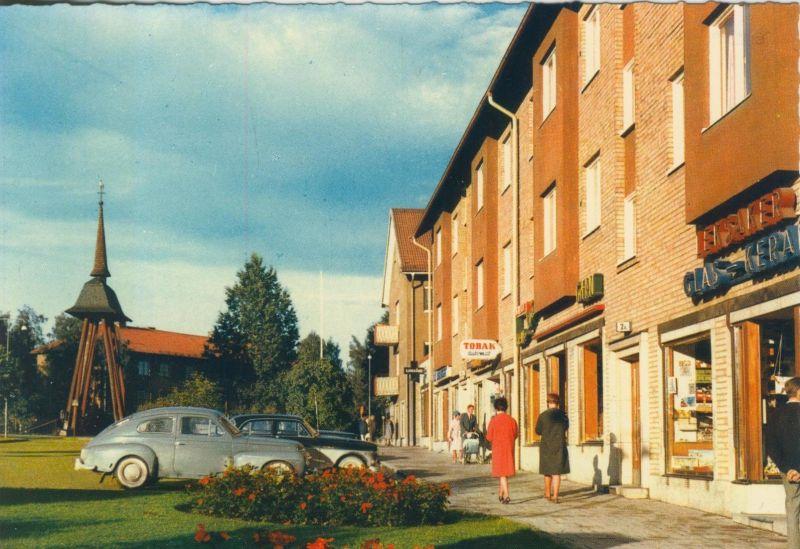 Fagersta v. 1975  Strassensicht mit Geschäfte  (55305)