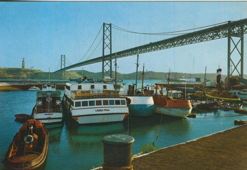 Lisboa v. 1974  Ponte Salazar -- Brücke und Hafen  (55337)