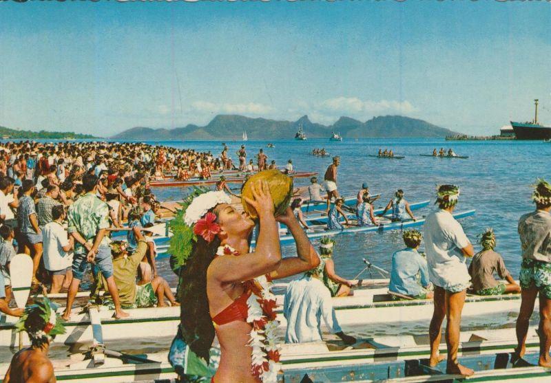 Tahiti v. 1972  Strandleben  (55356)