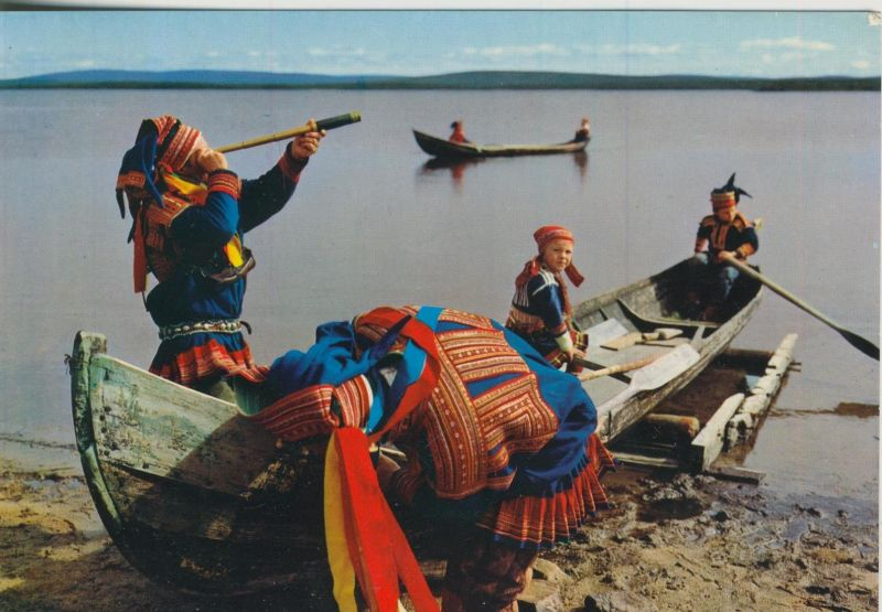Finnisches Lappland v. 1974  Am Fluß  (55361)