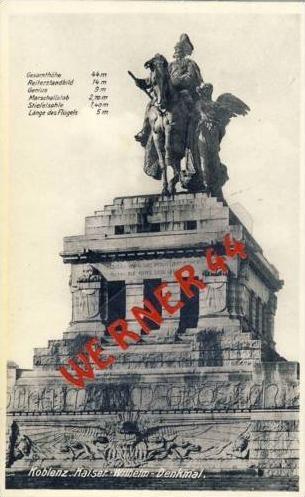 Koblenz v.1933 Kaiser-Wilhelm-Denkmal (2700)