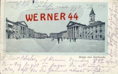 G. a. Karlsruhe v.1906 Marktplatz (2720)