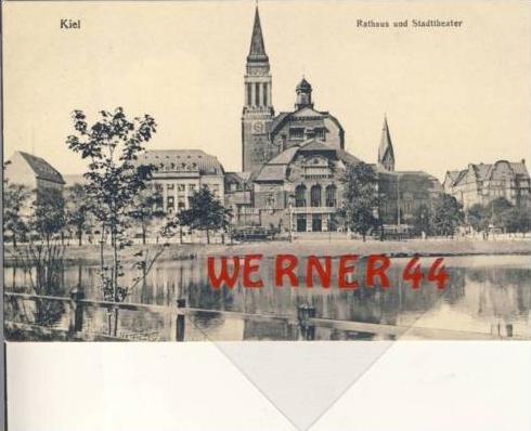 Kiel v.19415 Rathaus & Stadttheater (2734)