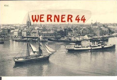 Kiel v.1912 Hafen und 2 Master (2735)
