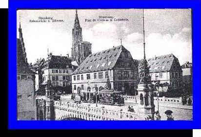 Strassburg v.1914 Teil-Stadt mit (3690)