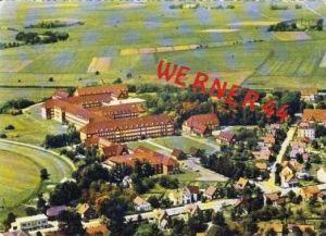 Sande v. 1966 Teil-Dorf-Ansicht mit Krankenhaus  (27328)