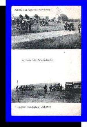 Döberitz v.1916 Artillerie b. Schießen (4675)