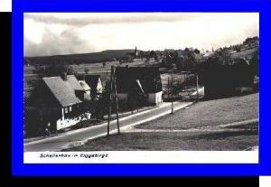 Schellerhau v.1965 Teil-Dorf-Ansicht (4727A)