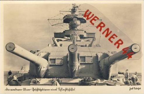 Schlachtschiff.v.1938 3 Geschütztürme 28cm.(6315)