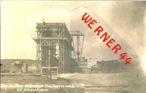 Niederfinow v.1932.Bau des Schiffshebewerk.(6329)