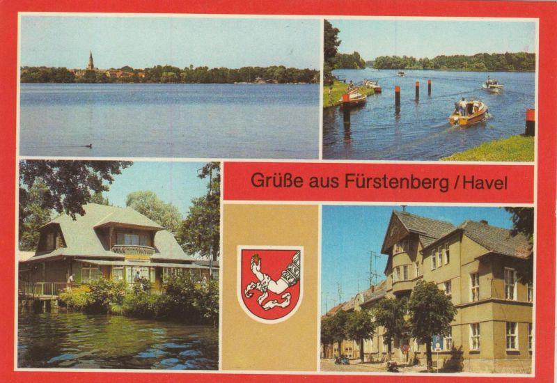 Fürstenberg / Havel v. 1988  4 Ansichten ( Rückseite FEHLDRUCK !! )  (55527)