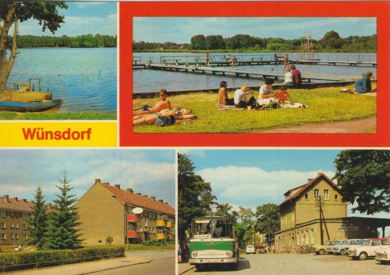 Zossen v. 1985 Wünsdorfer See,Badestrand,AWG,Bahnhof  (55533)