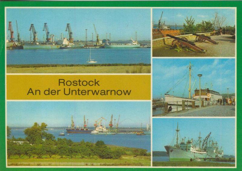 Rostock v. 1983  2 x Überseehafen,Fischerbastion,Anlegestelle Kaputzenhof,Am Schmarler Ufer  (55536)