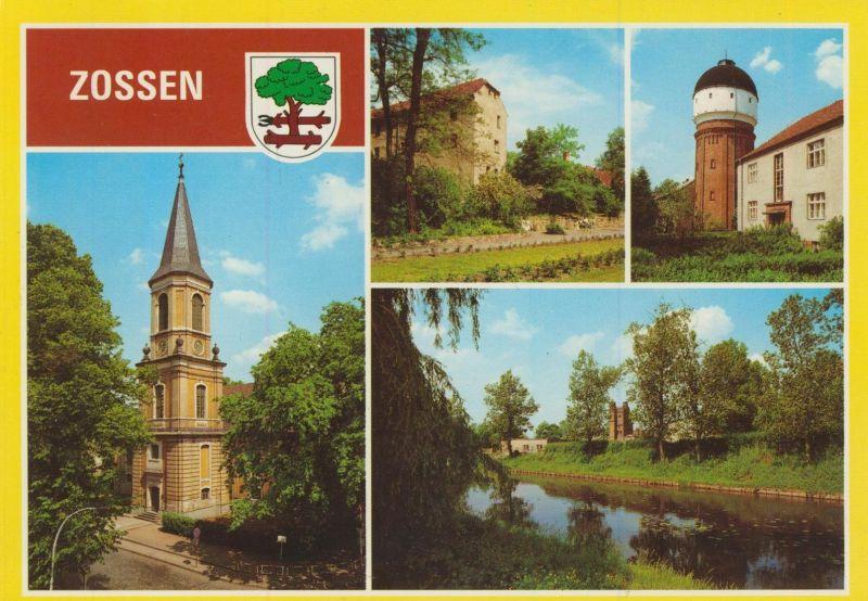 Zossen v. 1988 Kirche,Alte Burg,Wasserturm,Blick über die Nolte  (55543)