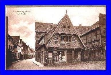 Lauenburg v. 1920  Markt & Margarine Geschäft (1993)