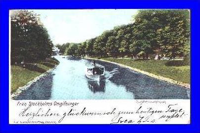 Stockholm v.1902 Djurgärdsbrunnskanal (2021)