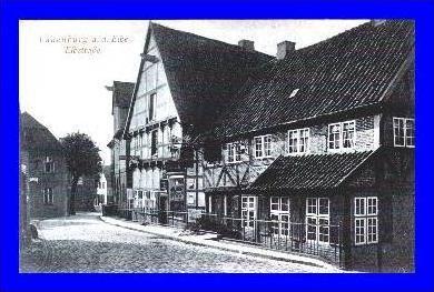 Lauenburg v. 1924  Elbstrasse mit Gastwirtschaft  (1999)