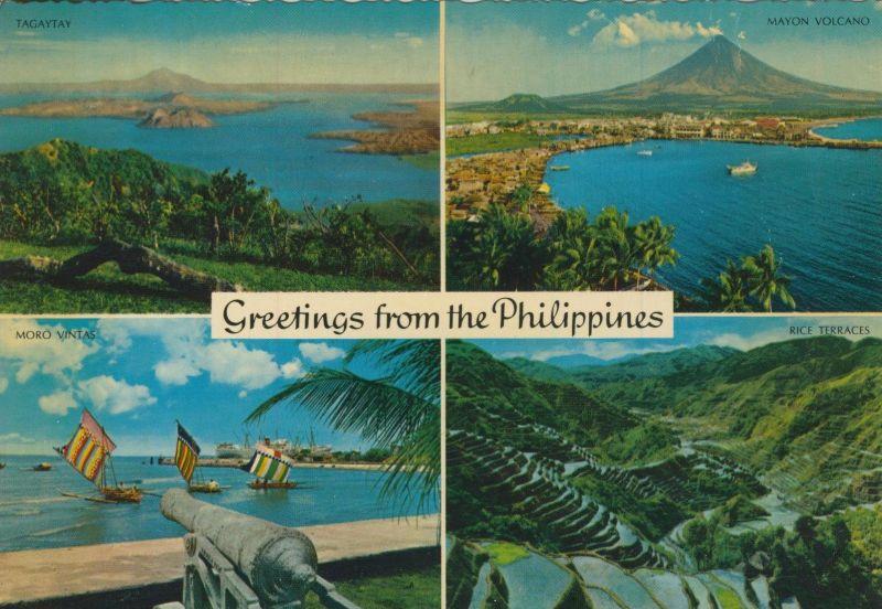Philippinen v. 1968  4 Ansichten  (55409)