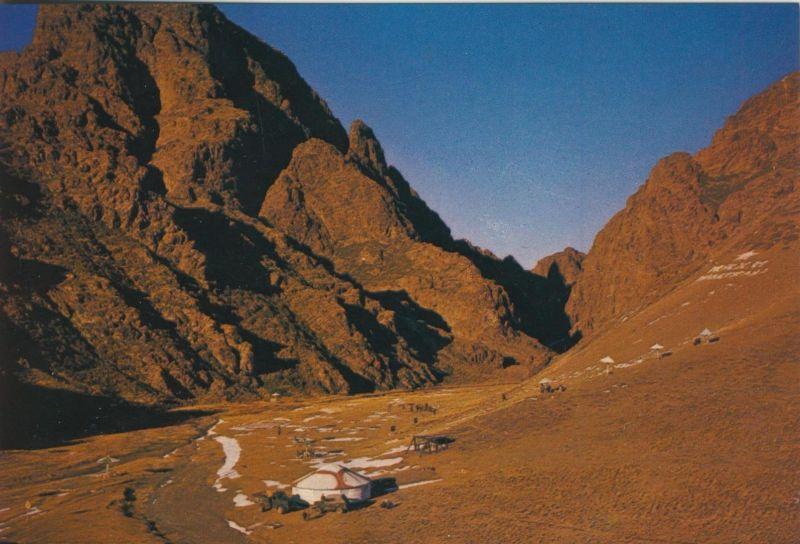 South Gobi / Mongolie v. 1972  In der Wüste  (55457)