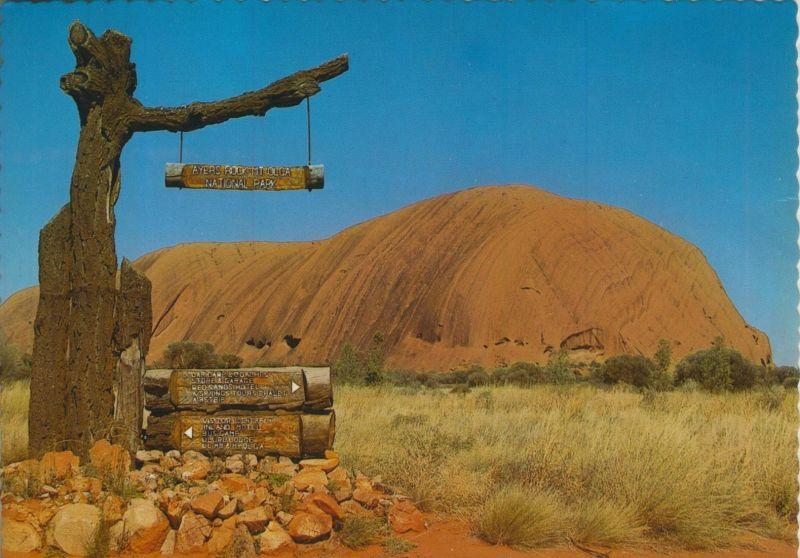 Australien v. 1970  The National Park Signpost -- Avers Rock  (55459)
