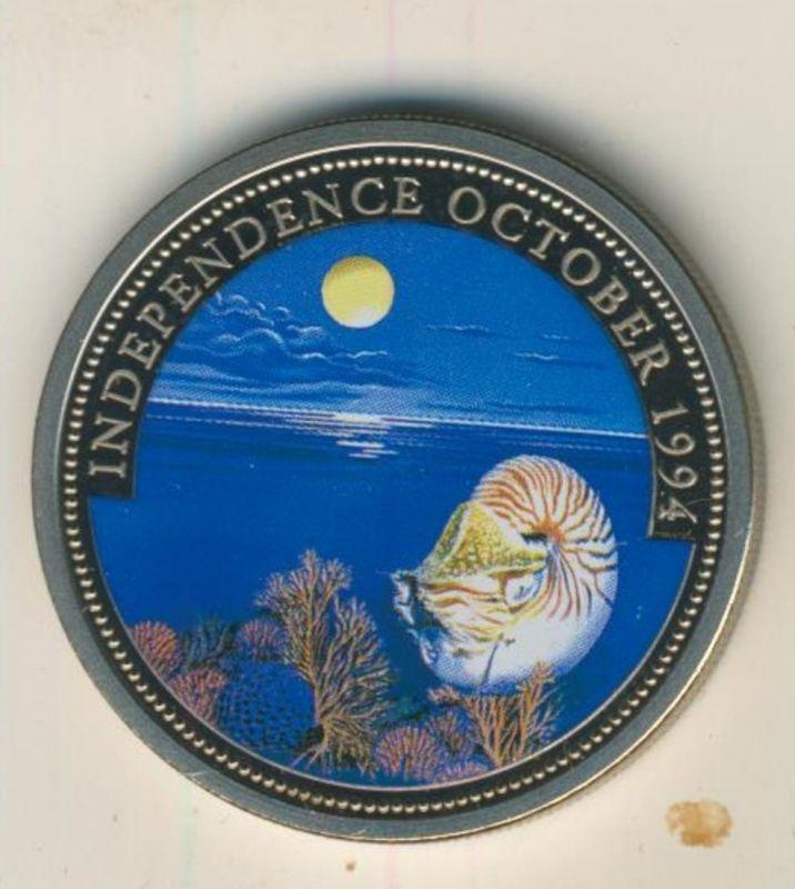 Rebublic of Palau, 1 Dollar, Farbmünze,stgl.,1994, Independence October  (54010)