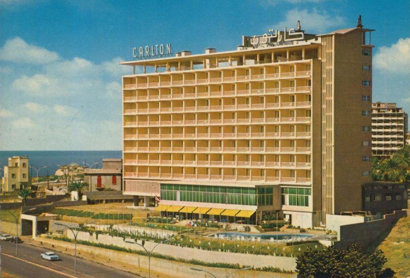 Beirut v. 1970  Carlton Hotel mit Schwimmbad (55480)