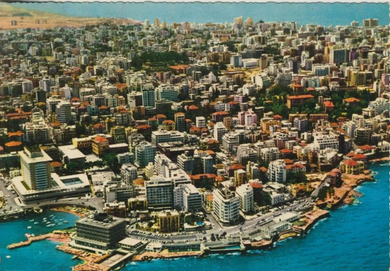 Beirut v. 1974  Teil-Stadt-Ansicht  (55488)