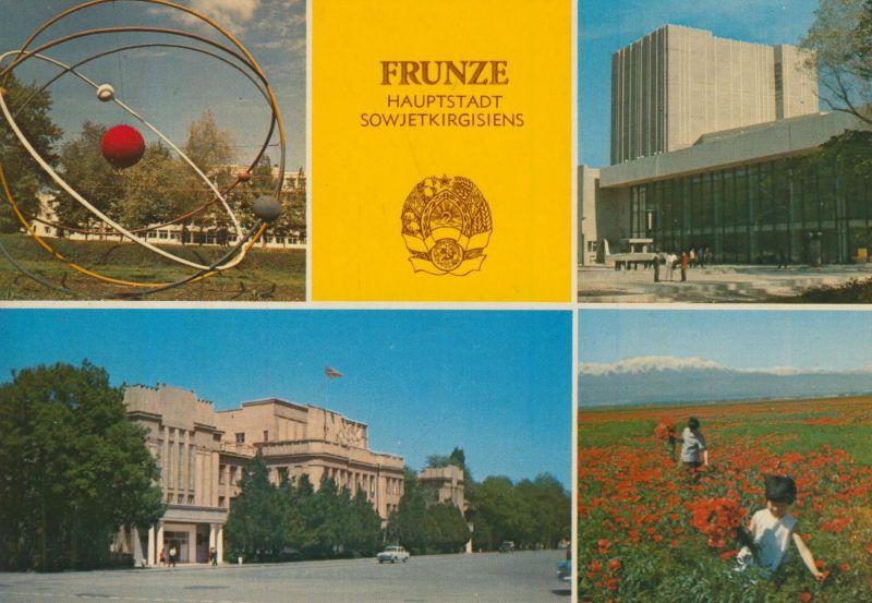 Frunze / Sowjetkirgisiens v. 1968  4 Ansichten  (55490)