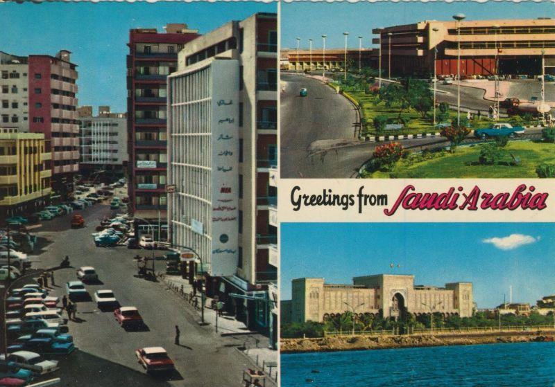 Jeddah v. 1972  3 Stadt-Ansichten  (55499)