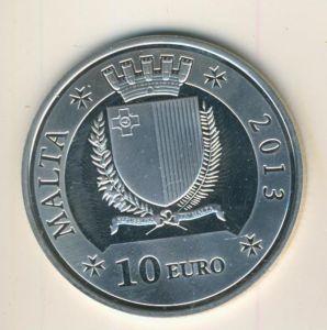 Malta v. 2013  F. Emmanuel Pinto M.M.H.H.   10 Euro  (55840-1)