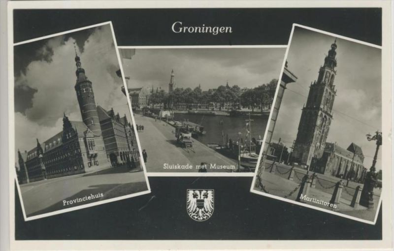 Groningen v. 1962   3 Stadtansichten   --- siehe Foto !!    ( 36215 )