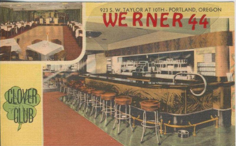 Portland,Oregon v. 1948  Clover Club  --  siehe Foto !!   (36439)