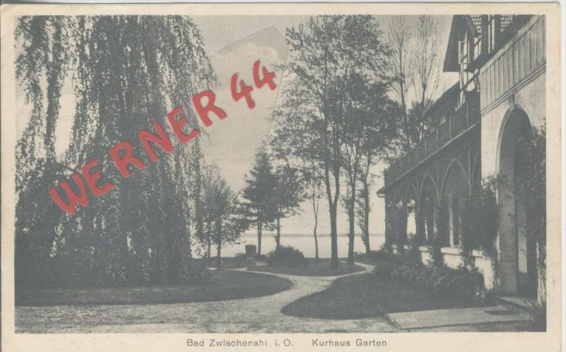 Bad Zwischenahn v. 1926  Kurhaus Garten  --  siehe Foto !!   (36476)
