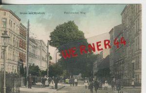 Rostock v. 1907   Patriotischer Weg mit Verkaufshandwagen  ---  siehe Foto !!   (27802)