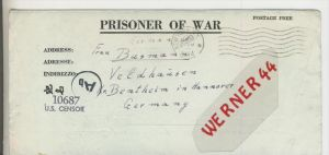 Gefangenen Post  v. 30. Dez. 1943  Nach Veldhausen --  Pastor Busmann (28107)