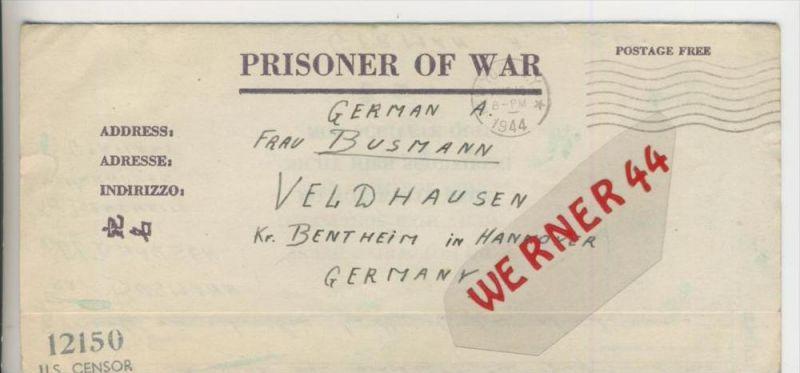 Gefangenen Post  v. 15. Juli 1944  Nach Veldhausen --  Pastor Busmann (28109)