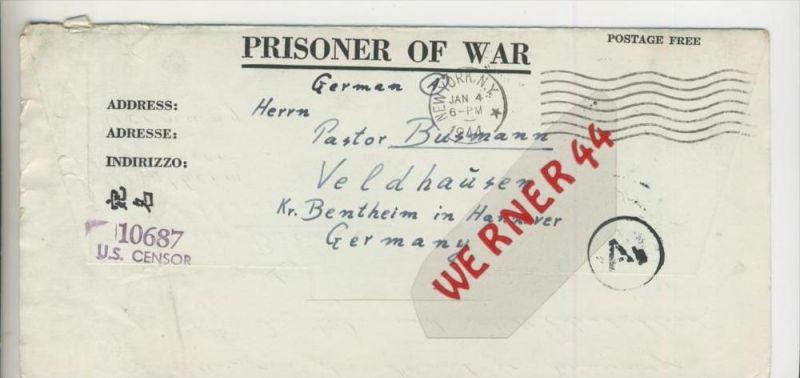 Gefangenen Post  v. 23. Dez. 1943  Nach Veldhausen --  Pastor Busmann (28111)