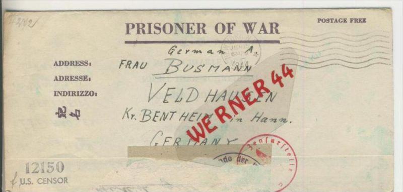 Gefangenen Post  v. 11. März 1944  Nach Veldhausen --  Pastor Busmann (28114)