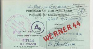 Gefangenen Post  v. 22. Okt.. 1943 Nach Veldhausen --  Pastor Busmann (28119)