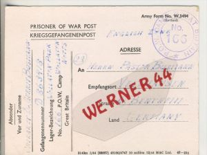 Gefangenen Post  v. 30. Juni 1946   Nach Veldhausen --  Pastor Busmann (28127)