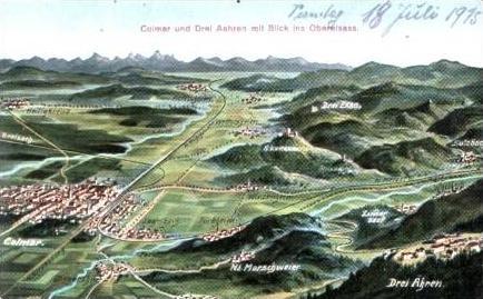 Colmar v.1915 Vogelschau-Ansicht (16516)