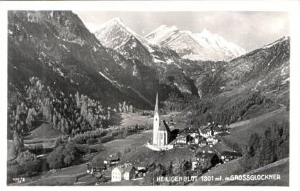 Heiligenblut v.1934 Dorf & Kirche (16829)