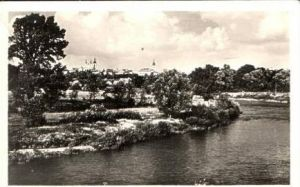Zatec v.1952 Teil-Stadt-Ansicht (16854)