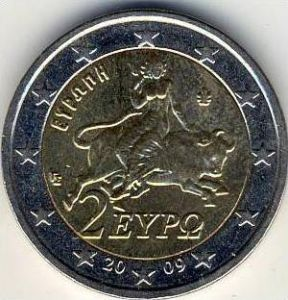 2 Euro Kursmünze Griechenland 2009  --- (2)