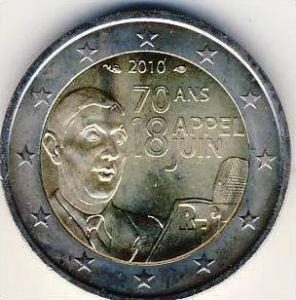 2 EURO FRANKREICH GEDENKMÜNZE 2010 ## CHARLES DE GAULLE  --- (3)