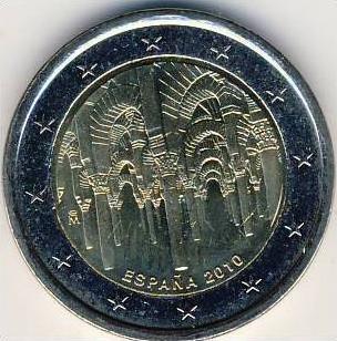 2 EURO SPANIEN GEDENKMÜNZE 2010 ALTSTADT CORDOBA  --- (5)